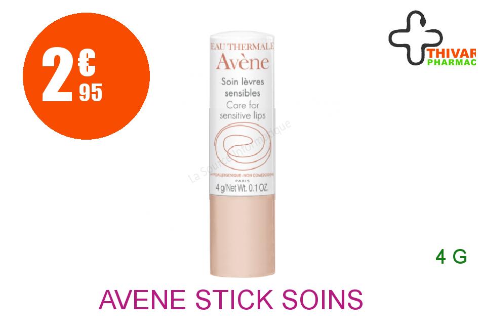 Achetez AVENE Stick soins lèvres sensibles 4g