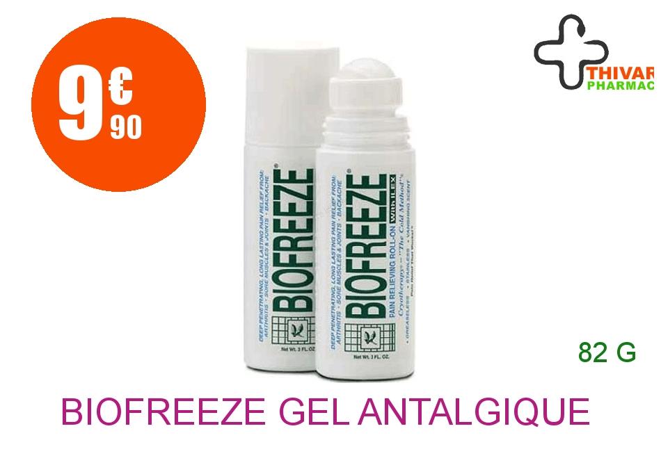 Achetez BIOFREEZE Gel antalgique à effet froid Roll-on de 82g