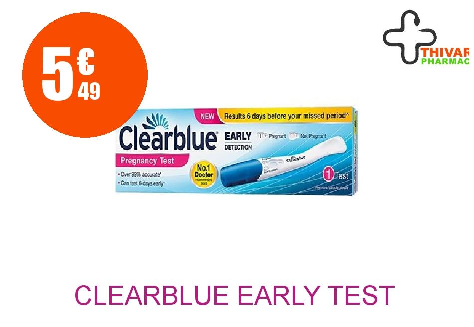 Achetez CLEARBLUE EARLY Test de grossesse détection précoce Stylo de 1