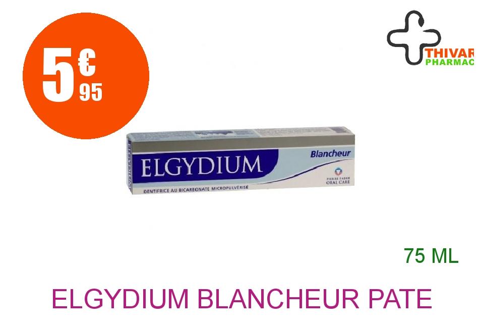 Achetez ELGYDIUM BLANCHEUR Pâte dentifrice anti-tache Tube de 75ml