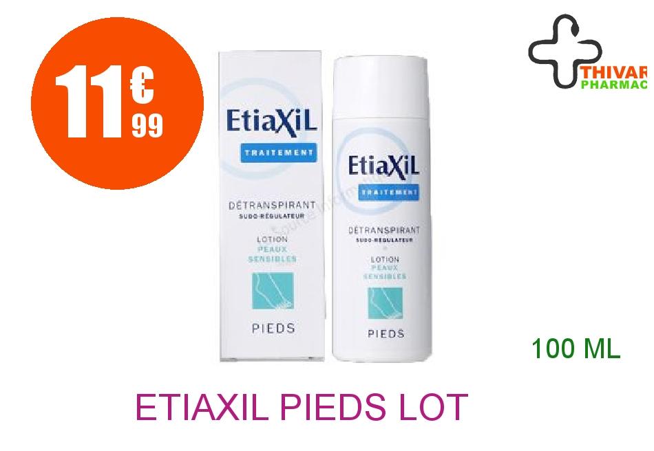 Achetez ETIAXIL PIEDS Lot antitranspirante peau sèche Flacon de 100ml