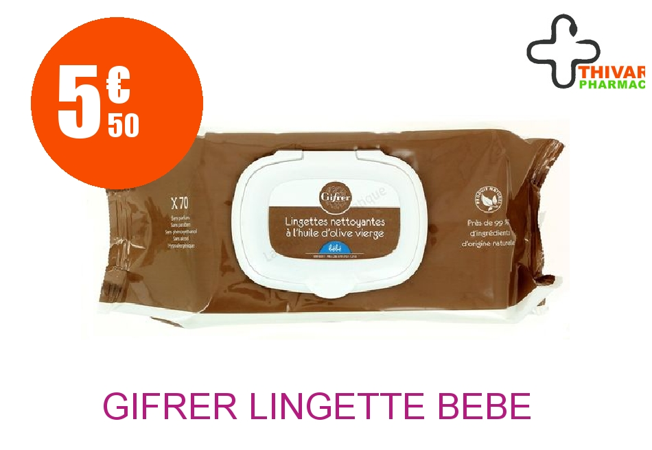 Achetez GIFRER Lingette bébé Paquet de 70