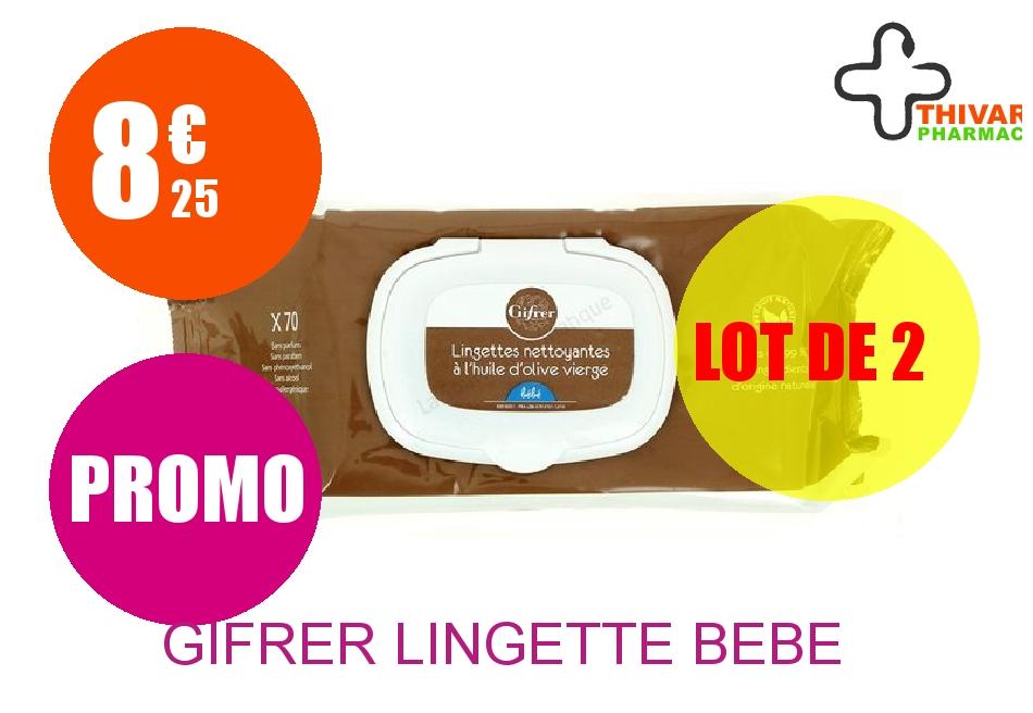 GIFRER Lingette bébé Paquet de 70 Lot de 2