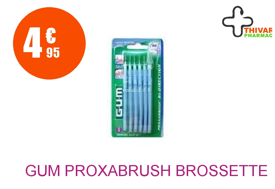 Achetez GUM PROXABRUSH Brossette inter-dentaire conique microfine Blister de 6