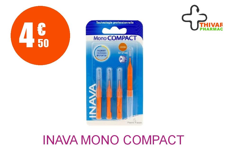 Achetez INAVA MONO COMPACT Brossette extra-fine orange Blister de 4