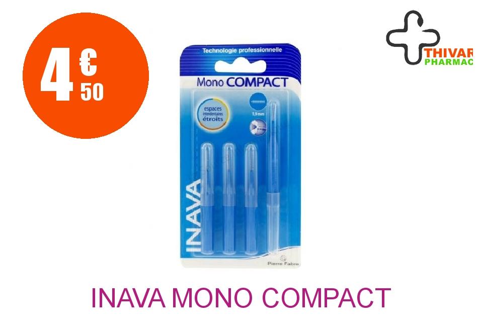 Achetez INAVA MONO COMPACT Brossette microfine bleu Blister de 4