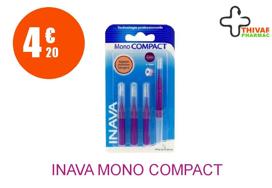 Achetez INAVA MONO COMPACT Brossette large violet Blister de 4