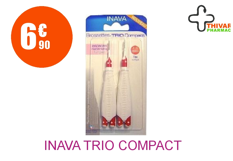 Achetez INAVA TRIO COMPACT Brossette Taille Unique fine Blister de 6