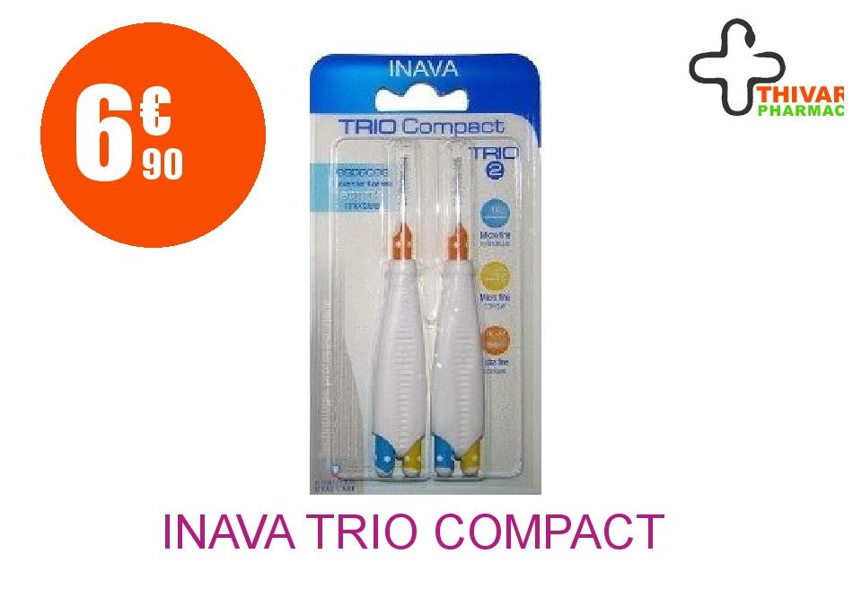 Achetez INAVA TRIO COMPACT Brossette mixte espaces étroits Blister de 6