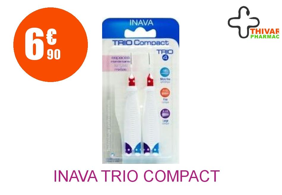Achetez INAVA TRIO COMPACT Brossette mixte espaces larges Blister de 6