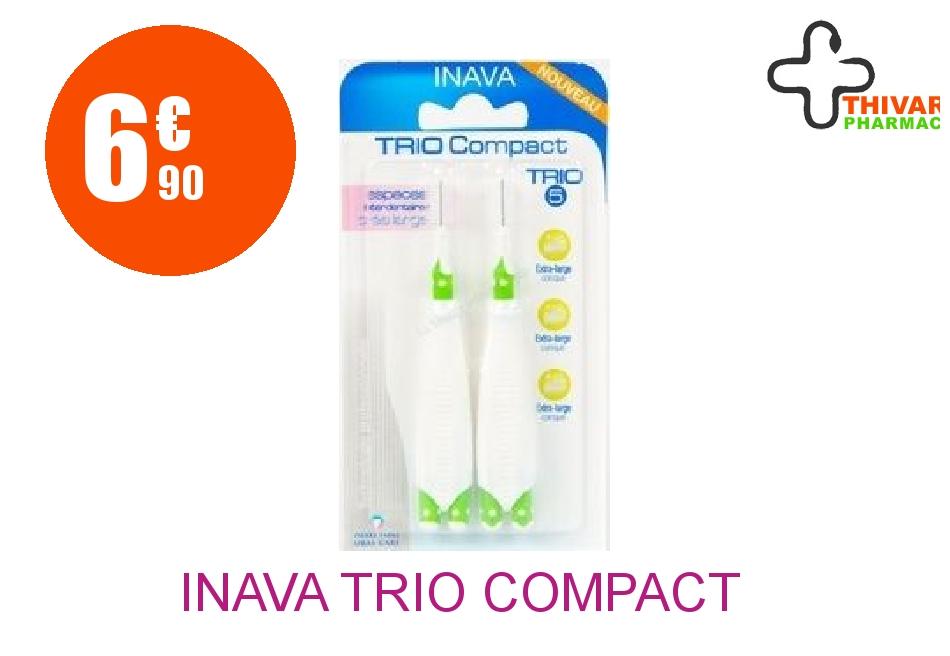 Achetez INAVA TRIO COMPACT Brossette interdentaire espaces très larges Blister de 2