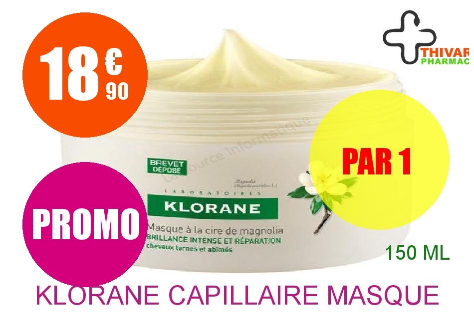 KLORANE CAPILLAIRE Masque Cire de Magnolia Pot de 150ml