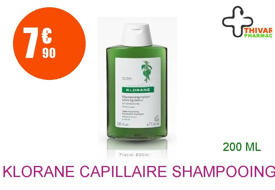 Achetez KLORANE CAPILLAIRE Shampooing Ortie Flacon de 200ml