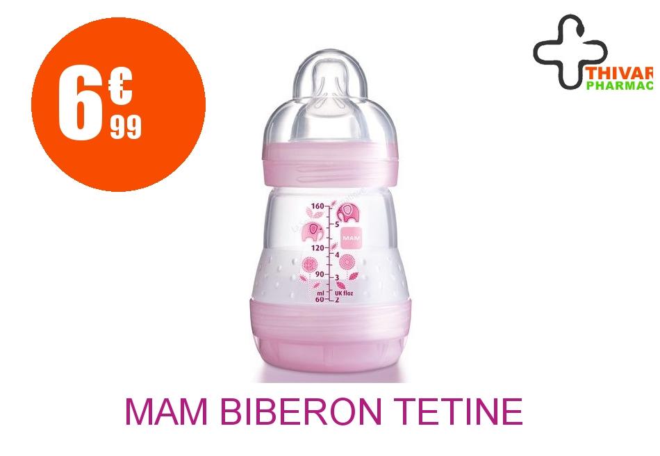 Achetez MAM Biberon tétine débit 1 africa rose 160ml