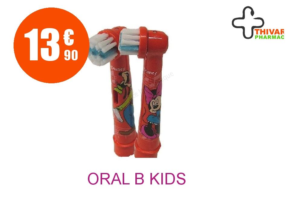 Achetez ORAL B KIDS Brossette Blister de 2