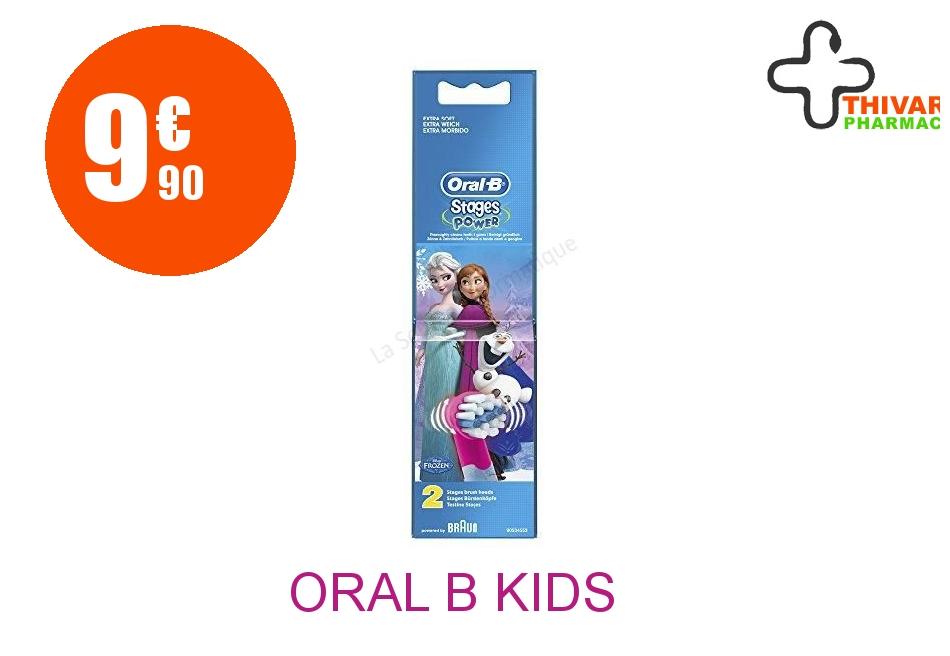Achetez ORAL B KIDS Brossette reine des neiges Blister de 2