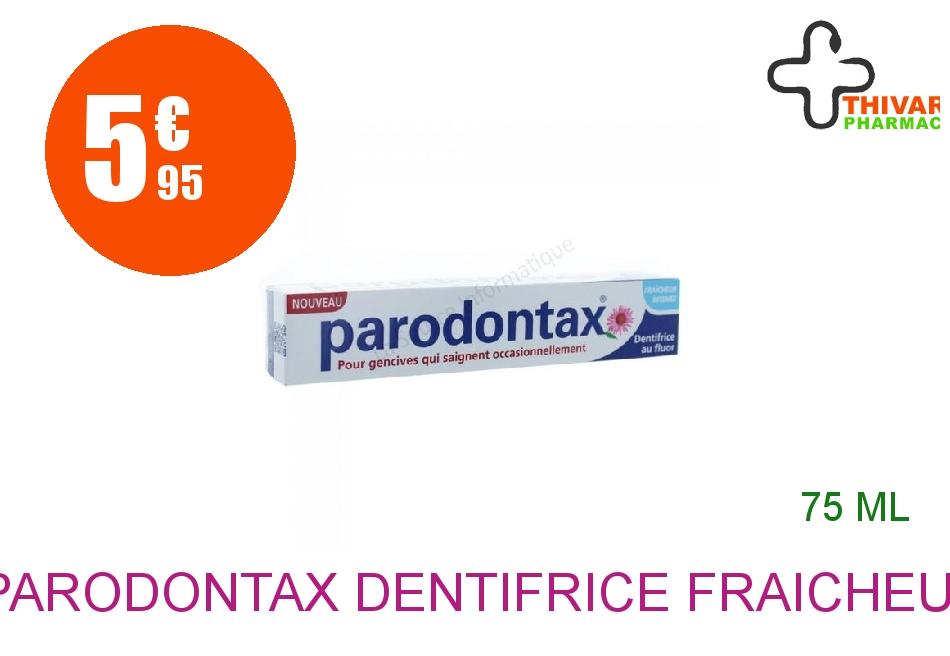 Achetez PARODONTAX Dentifrice fraîcheur intense Tube de 75ml