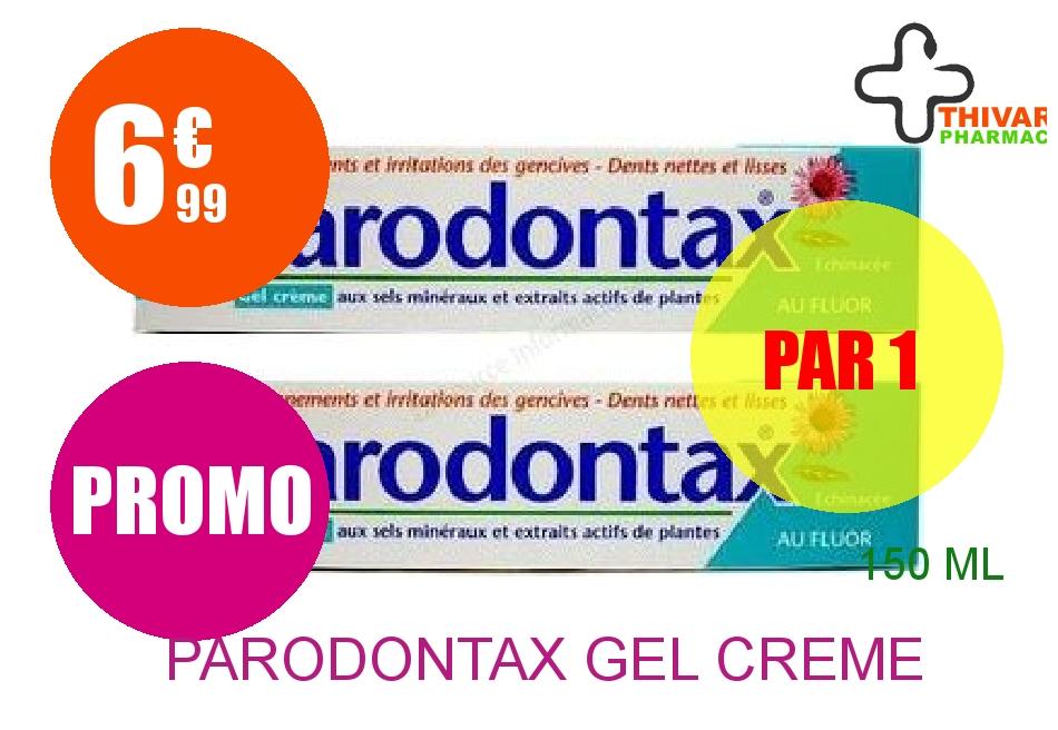 PARODONTAX Gel crème dentifrice 2 Tube de 75ml