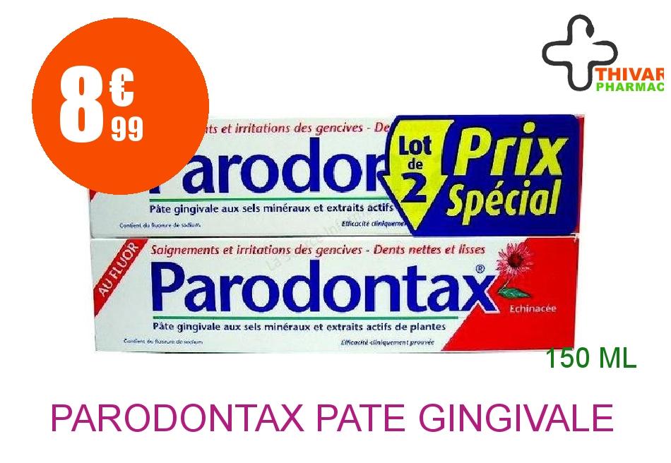 PARODONTAX Pâte gingivale 2 Tube de 75ml