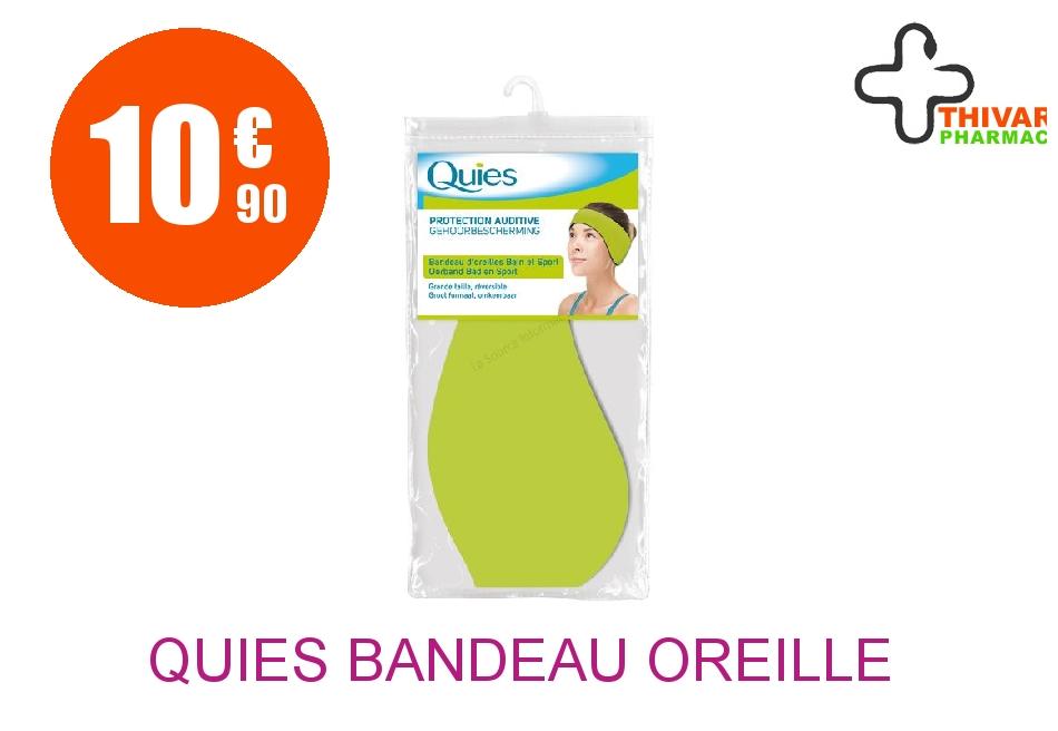 Achetez QUIES Bandeau d'oreille néoprène vert GM