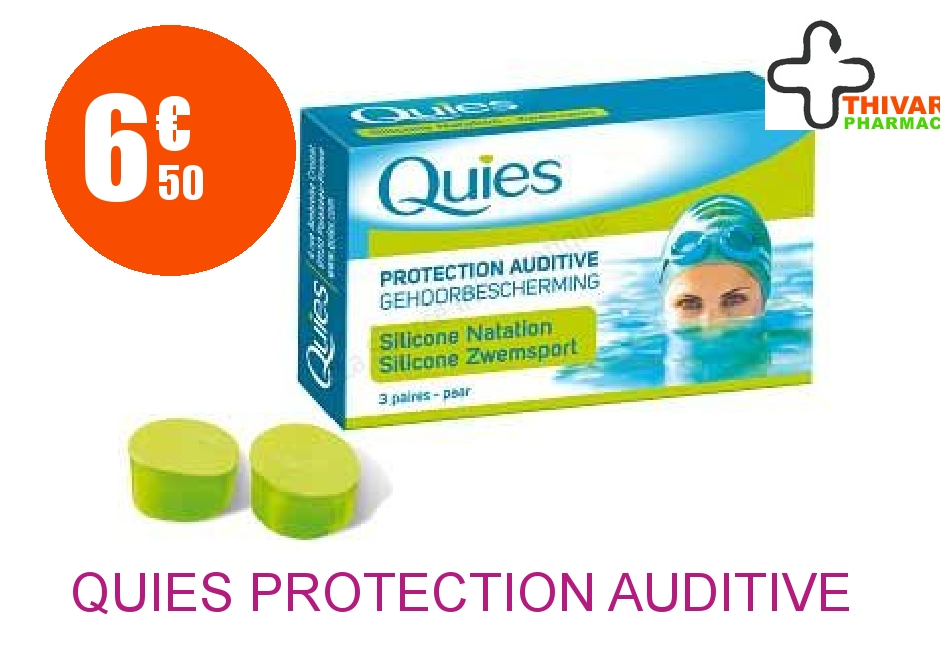 Achetez QUIES Protection auditive standard Boîte de 3 Paires