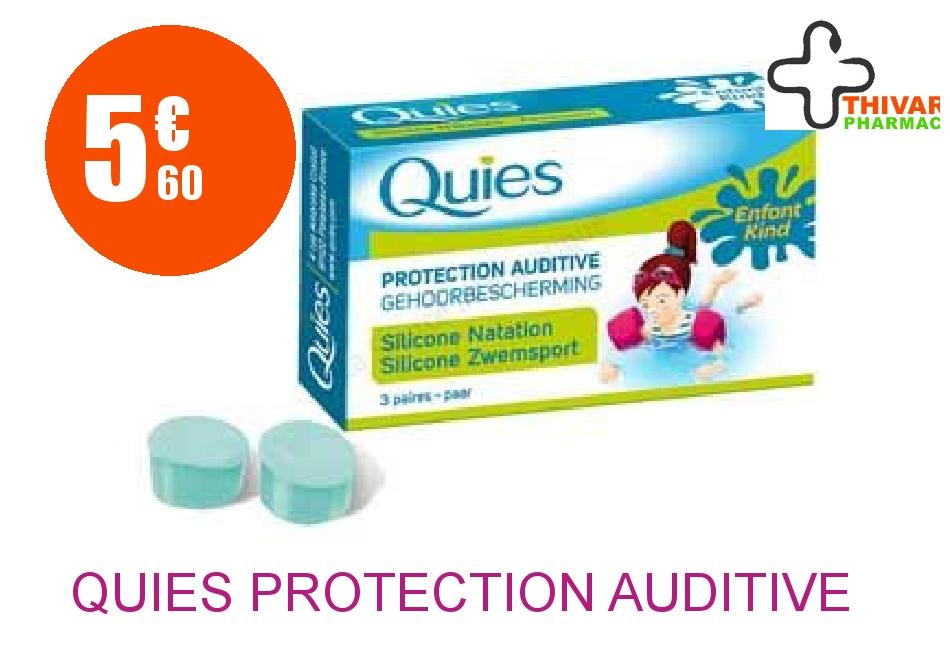 Achetez QUIES Protection auditive silicone spécial natation enfant Boîte de 3 Paires