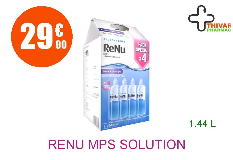 Achetez RENU MPS Solution Lentilles souple multifonction 4 Flacon de 360ml
