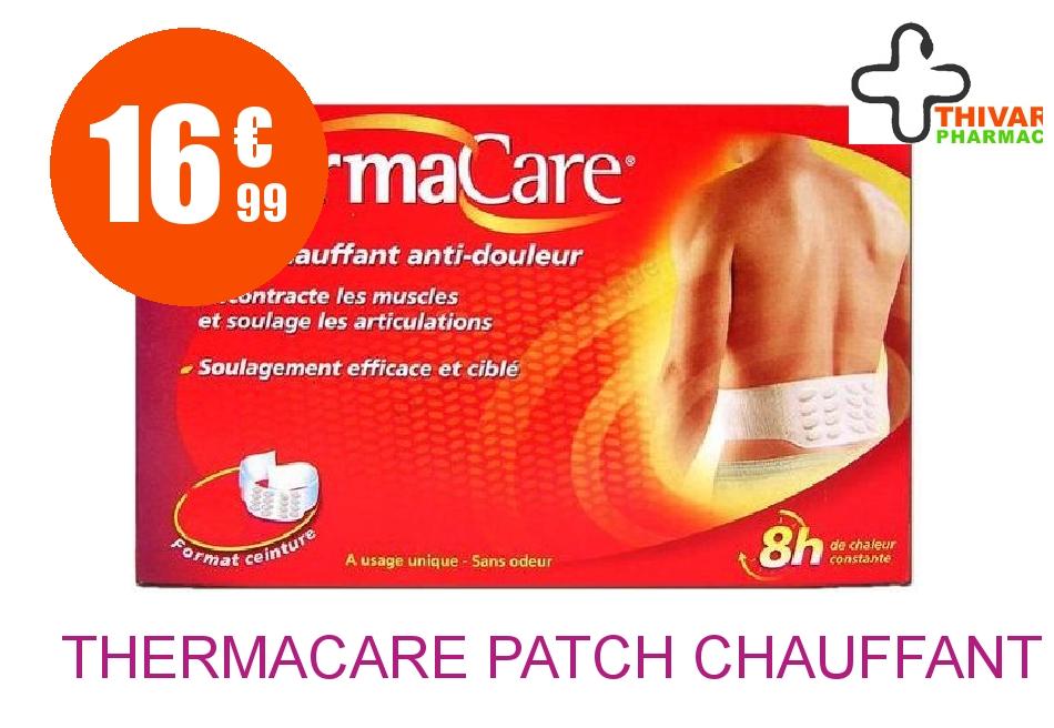 Achetez THERMACARE Patch chauffant dos Pack de 4