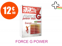 FORCE G POWER MAX Solution Buvable TONIQ 20 Ampoule de 10ML