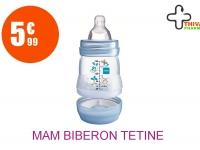 MAM Biberon tétine débit 1 africa bleu 160ml