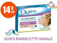 QUIES Bandelette nasale anti-ronflement PM Boîte de 24
