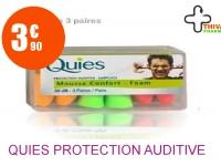 QUIES Protection auditive mousse fluo Boîte de 6